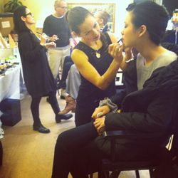 Getting Models ready for the Catwalk- Armani show