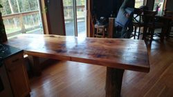 cedar kitchen countertop