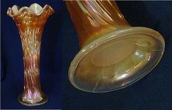 April Showers vase, marigold on moonstone