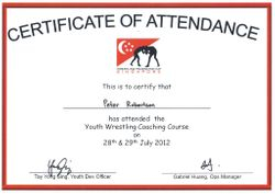 Wrestling Federation Singapore Youth Wrestling Coaches Certificate