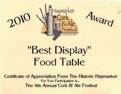 Best Display Food Table at Cork and Ale Festival