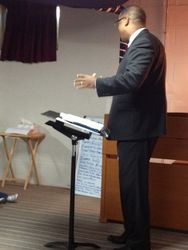 Pastor Preaching the Word of God