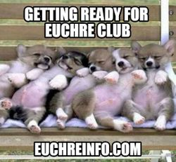 'Getting ready for Euchre club.