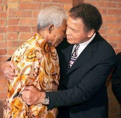 Mandela and Muhummad Ali