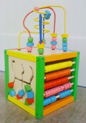 Wooden bead mover frame
