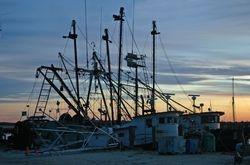 Sunset on the pier at Menemsha