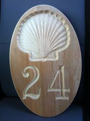 NEW- 3D Scallop Shell