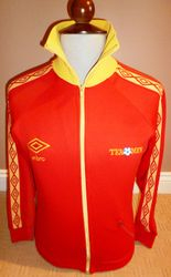 match worn 1979 umbro nasl new england teamen tracksuit top