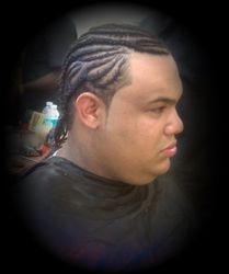 Design corn Row braids