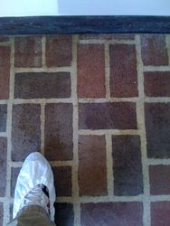 Brick floor after cleaning