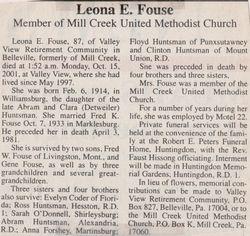 Fouse, Leona E. Huntsman 2001