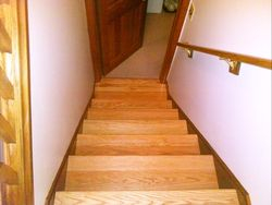 Basement stairs during 1