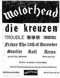 1985-12-13 Starlite Roll Arena, Milwaukee, WI