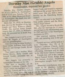 Angelo, Dorothy Mae Grubb 1999