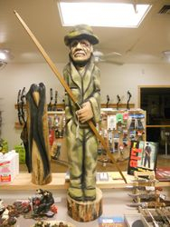 Rick Rowley Art Bow Hunter Wood Carving