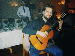 At the Restaurant in Felixtowe, Suffolk, UK, 1998