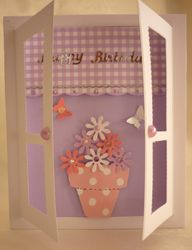 Window Card Birthday Flowers2