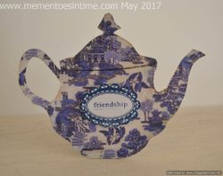Teapot Cards - Willow Pattern