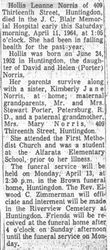 Norris, Hollis L. 1964