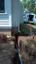 Laying Wire to House