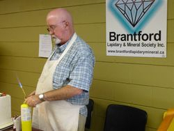 On-going demo by Brantford Lapidary & Mineral Society