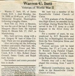 Isett, Warren C. 2000