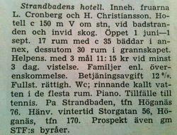 Strandbadens hotell 1949