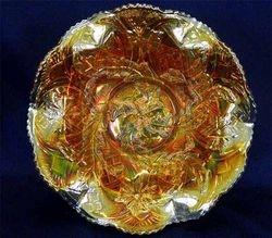 Whirling Leaves ruffled bowl - marigold, radium