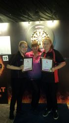 Ladies Pairs runners up
