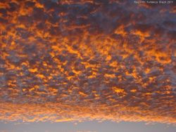 Colorful clouds during sunset