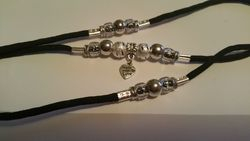 Black with heart dangle