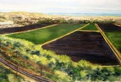 Mesa View Dunes & Railroad tracks, Nipomo