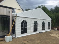 9m clear span marquee with windows