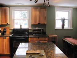 kitchen windows and seating