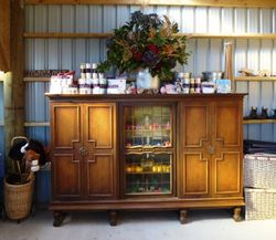 Dresser with Sweet Pea Parties amazing wares