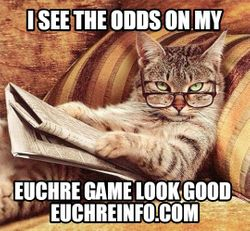 I see the odds on my Euchre game look good.