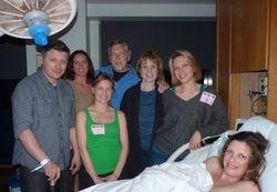 Jill and Simion and the family celebrating Baby Alexa