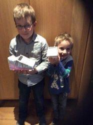 Daniel en Kevin geknutselde schoen 2015
