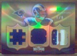2010 Topps Triple Threads Sam Bradford Jersey Card Numbered 1/9!!