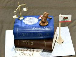 Law book cake