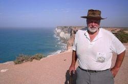 Tom at the Bunda Cliffs Lookout