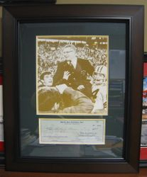 Vince Lombardi Autographed, Green Bay Packers Inc. Check From 1960