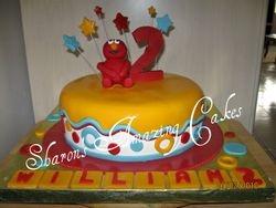 CAKE 24A2- Elmo Cake