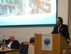 Prof Narula presents Pat Bradley's citation