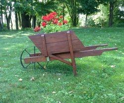 wheelbarrow - used as planter