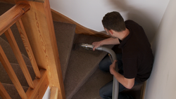 We can easily clean stairs with our smaller attachment