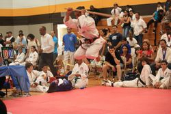Felix D Nodarse III performing a stick form getting 1 st place at 04/03/11 Championship