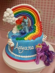 Pony Rainbow River Cake