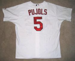 Albert Pujols 2008 (MVP Year) Game Used Home Jersey Back
