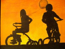 Morning riders